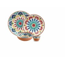 Adah 16 Piece Melamine Dinnerware Set, Service for 4