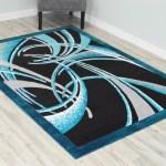Orren Ellis Desiray Power Loom Turquoise Black Rug Reviews Wayfair