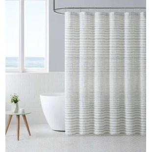 striped single shower curtain