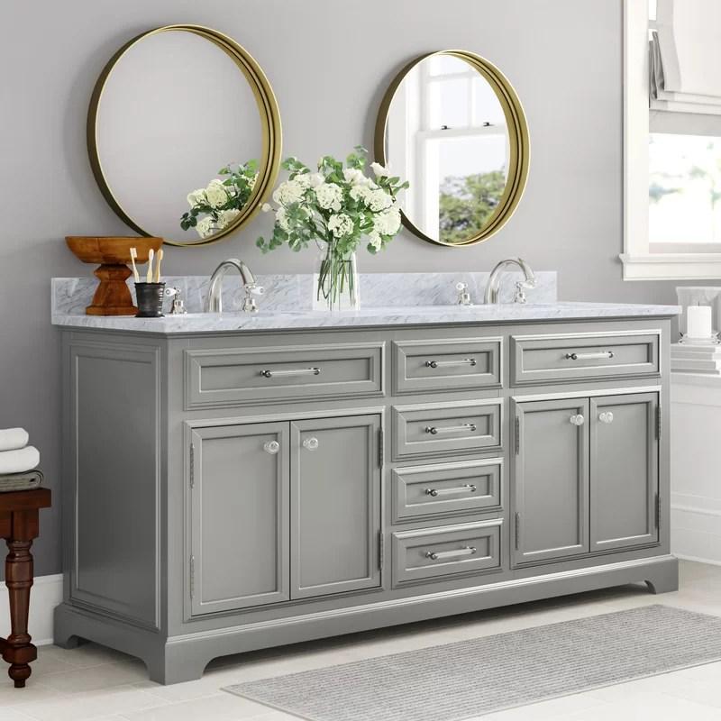 Three Posts Dovercourt 72 Double Bathroom Vanity Set Reviews Wayfair