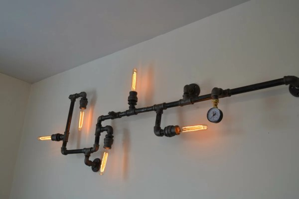 West Ninth Vintage Steampunk 5-light Industrial Pipe Wall