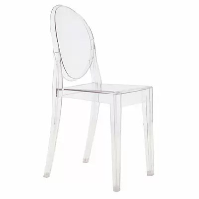 victoria ghost chair black and white reviews allmodern