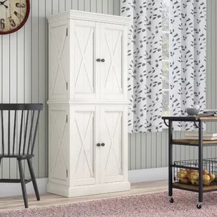 kitchen pantry closet small ideas pictures cabinets you ll love wayfair moravia 72