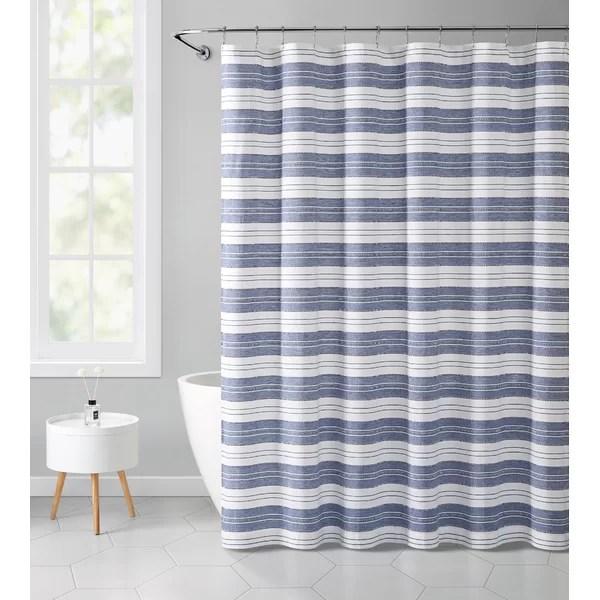 modern contemporary navy blue shower curtain