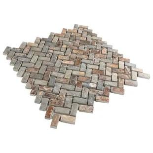 brown herringbone chevron shower tile