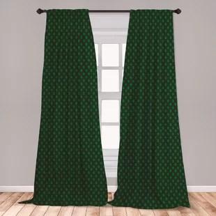 ambesonne money 2 panel curtain set pattern of dollar on dark green background monetary sign of usa lightweight window treatment living room bedroom