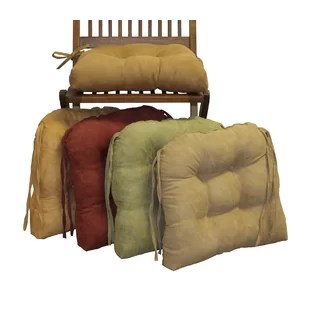 leather chair cushions covers groupon find seat for your kitchen wayfair microsuede fabric dining cushion set of 2