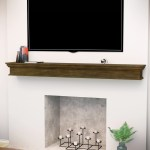Fireplace Wood Mantel Shelves Cap Shelf Wall Mount Floating Display Home Decor