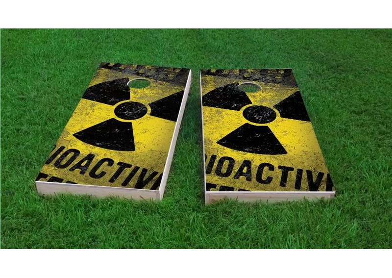 Radioactive / Nuclear Waste Cornhole Game Set Bag Fill: All Weather Plastic Resin
