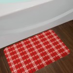 Tartan Plaid Bath Rug
