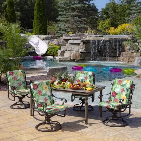 tropical outdoor lounge chair cushion