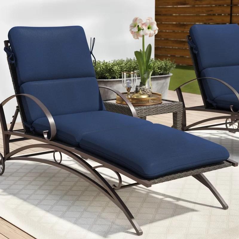 green patio chaise lounge cushion
