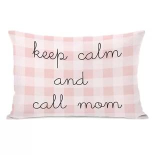 maxeys keep calm and call mom lumbar pillow