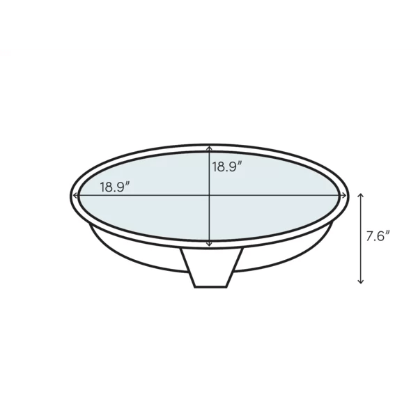 bryant ceramic circular drop in bathroom sink with overflow