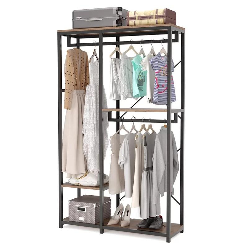 solari 47 24 w double rod clothes garment rack