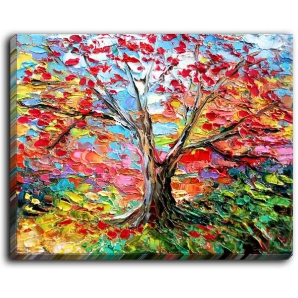 Story of the Tree 59 by Aja Ann Painting on Wrapped Canvas Size: 18 H x 24 W x 1.5 D