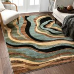 Brown Tan Modern Contemporary Area Rugs You Ll Love In 2020