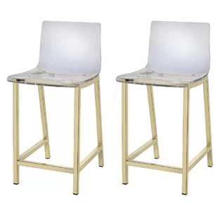 ghost chair bar stool accent chairs for dining room modern contemporary clear acrylic stools allmodern tim 24 set of 2
