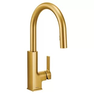 brass faucet kitchen country tables modern contemporary brushed faucets allmodern quickview