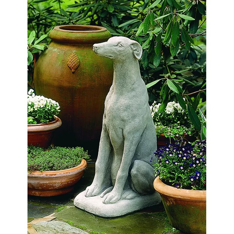 Greyhound Statue Color: Alpine Stone