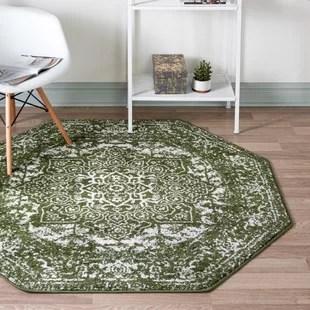 sundhya power loom green rug