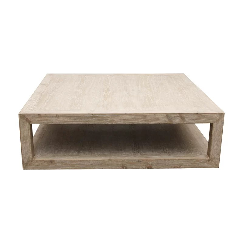 lily s living versatile peking grand framed square coffee table with weathered white wash 50 inch long