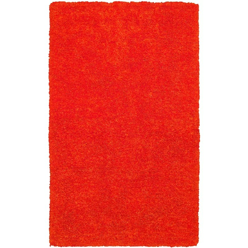 Hand-Tufted Light Orange Area Rug Rug Size: Rectangle 36 x 56