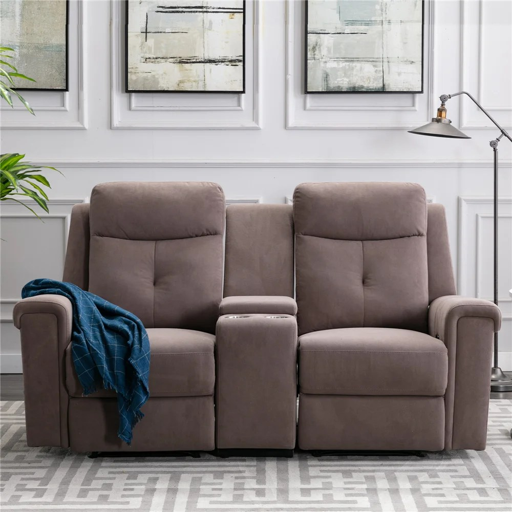 70 86 wide home theater sofa with cup holder