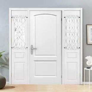geometric sheer outdoor rod pocket french door curtain set of 2