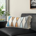 Modern Blue Lumbar Throw Pillows Allmodern