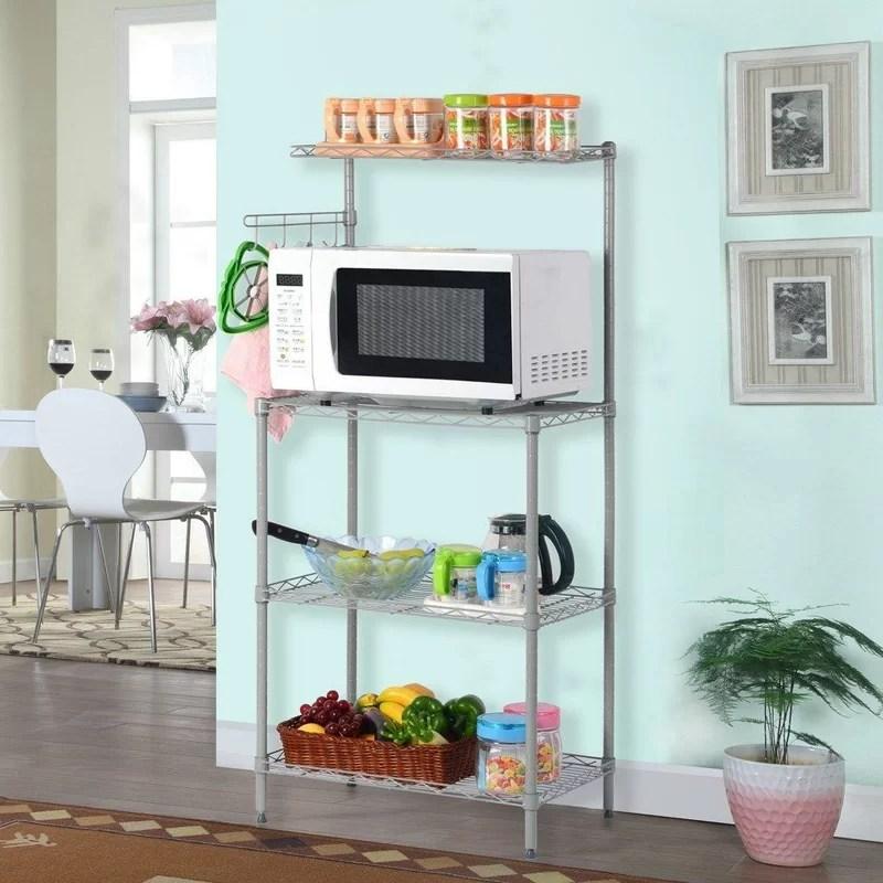 24 microwave stand storage steel baker s rack