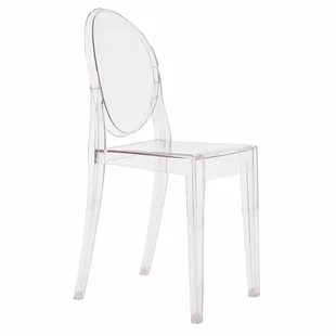 ghost chairs oxo tot high chair replacement cushion acrylic wayfair victoria set of 4