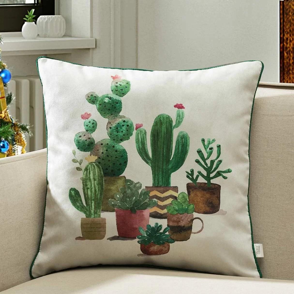 glazer houseplants cactus indoor outdoor throw pillow