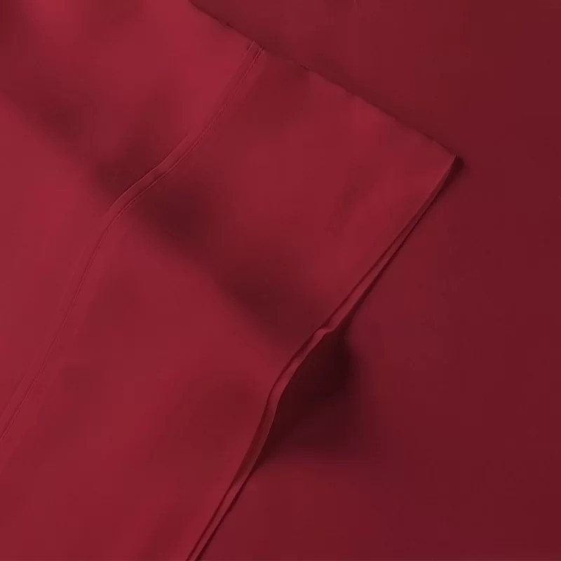 Rayon from Bamboo Pillow Case Size: Standard Color: Burgundy