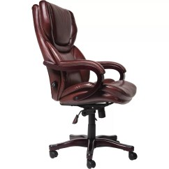 Serta Bonded Leather Executive Chair Big Man Covers At Home High Back And Reviews Wayfair