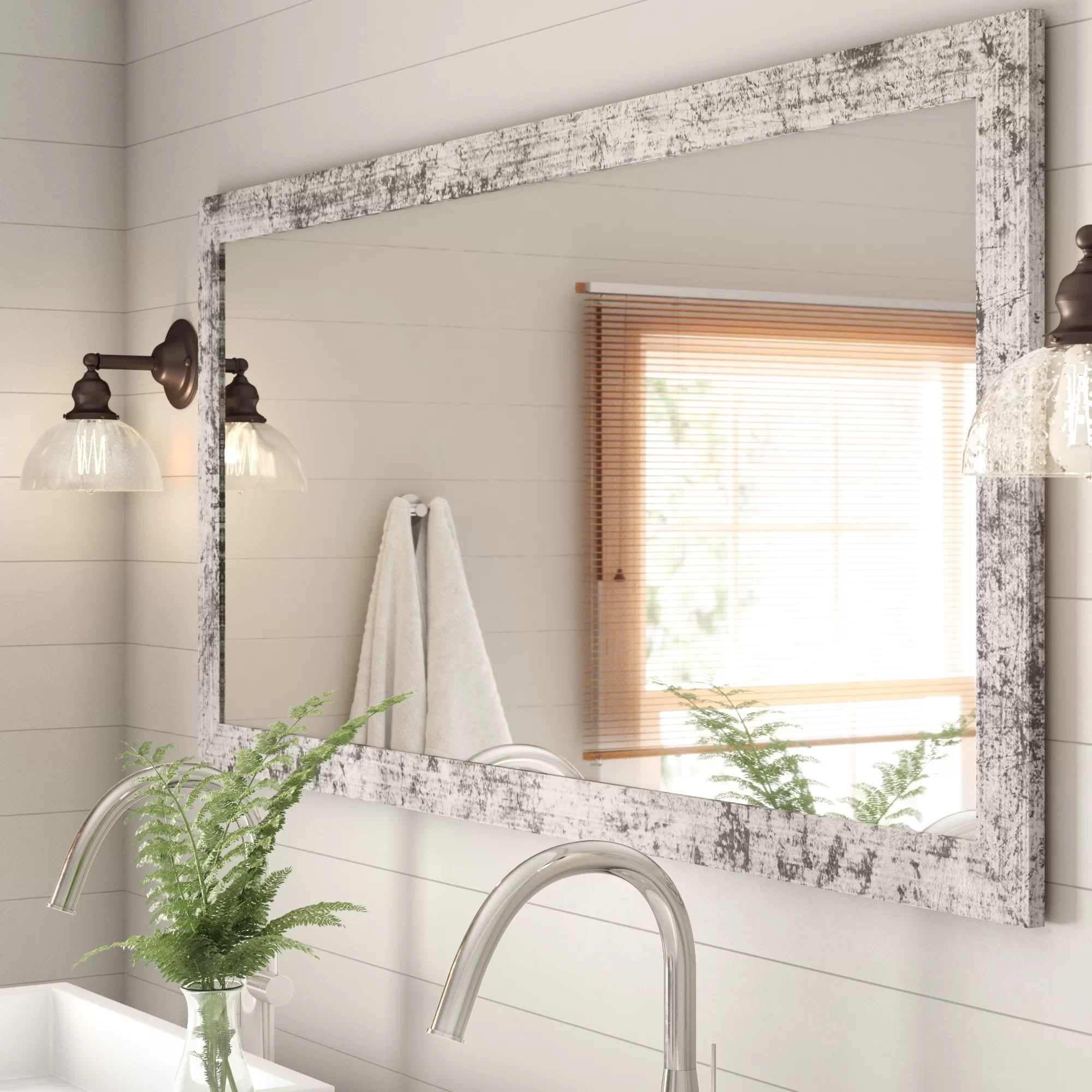 Rosalind Wheeler Rustic B Athroom Vanity Mirror Reviews Wayfair