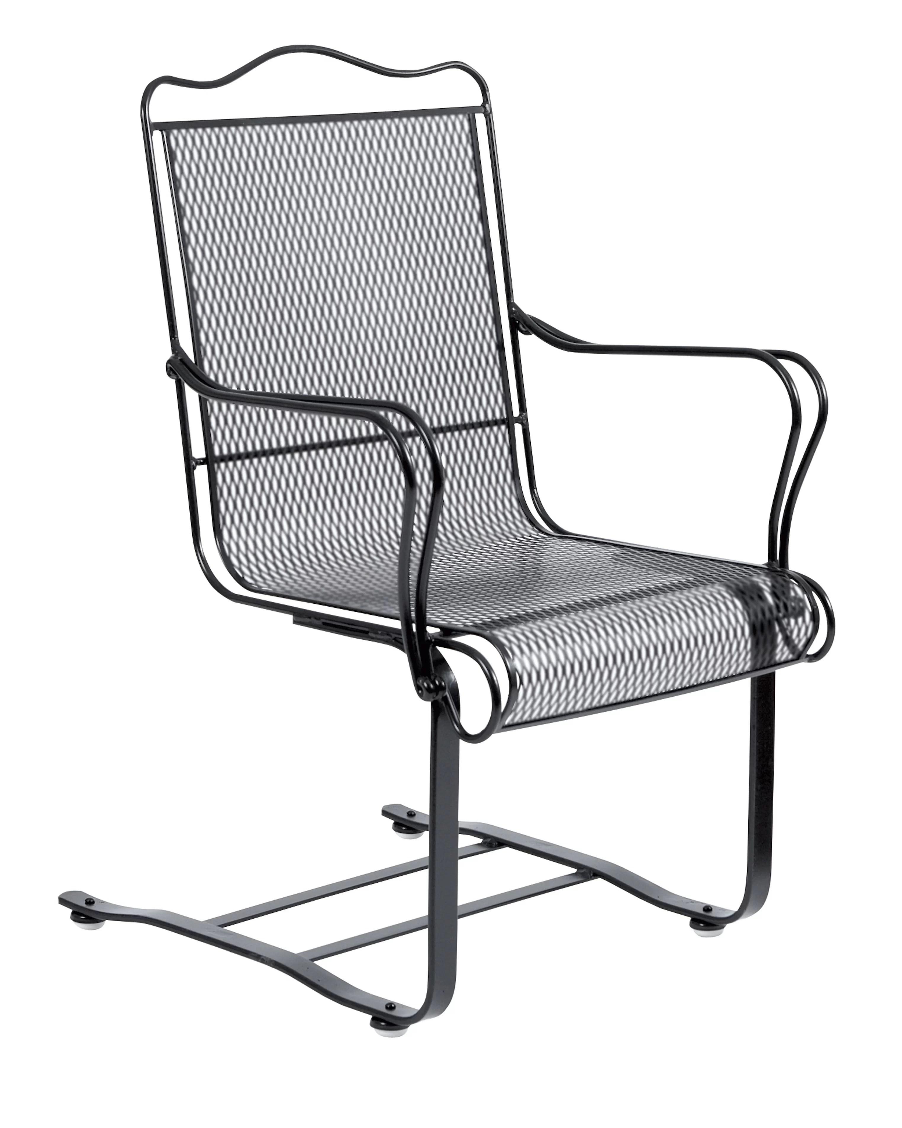 tucson high back spring base patio chair