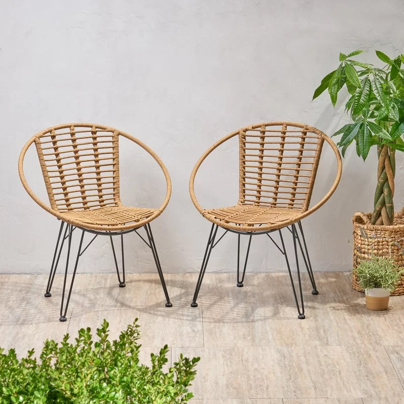 durham wicker patio dining chair