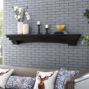 living room mantel ideas for bookcases in rooms fireplace mantels you ll love wayfair alconby shelf