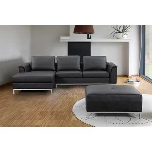 leather sectional sofas reclining canada you ll love wayfair ca sectionals
