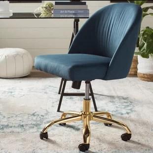 office chair gold three legged antique desk chairs you ll love wayfair quickview