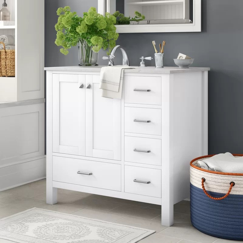Three Posts Aneira Full Cabinet 36 Single Bathroom Vanity Set Reviews Wayfair