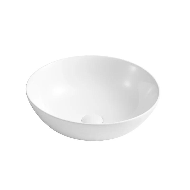 ceramic round sink above counter white bathroom vanity sink bathroom sink art basin