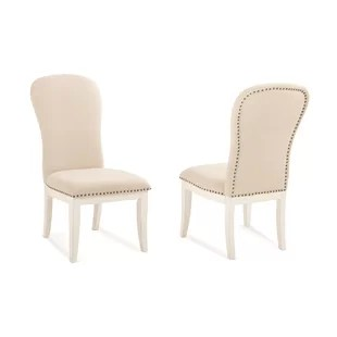 farmhouse dining chairs are zero gravity good for your back white wayfair south mountain chair set of 2