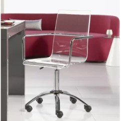 Clear Desk Chairs Swinging Chair Stand Acrylic Wayfair Quickview