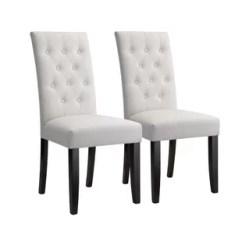 High Back Tufted Chair Wooden Rifton Accent Wayfair Bott Modern Button Upholstered Dining Set Of 2