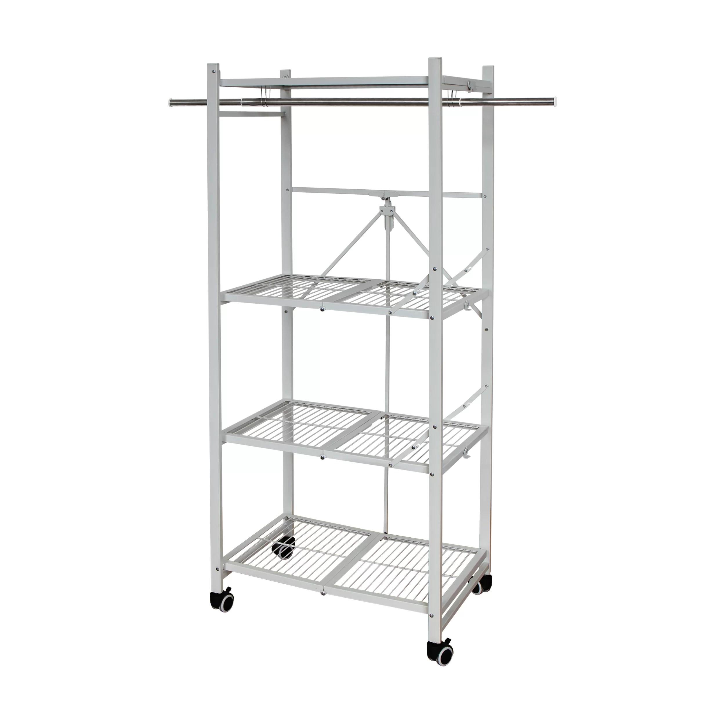 gonzalo 59 h x 25 63 w x 17 7 d foldable shelving unit storage rack