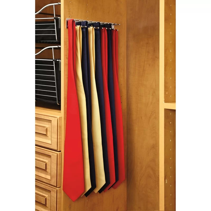 2 w pull out side mount tie rack