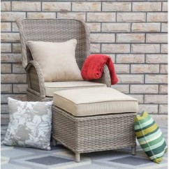 Outdoor Chair And Ottoman Zero Gravity With Footrest Wayfair Temperance Patio Cushions