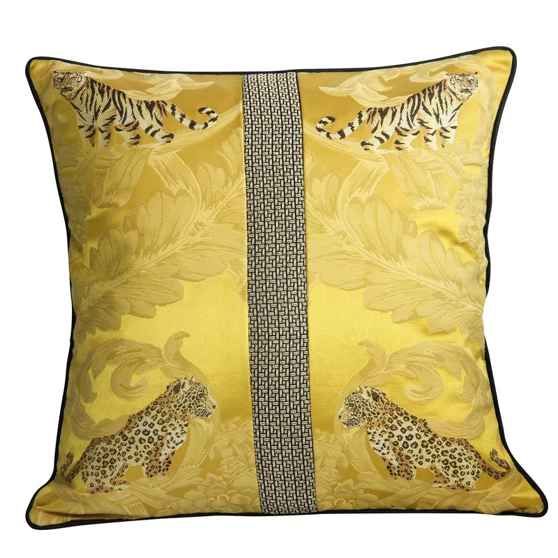tarvin home decorative gorgeous tiger and leopard throw pillow cover